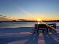 Breaking Dawn (n.e.janey) Tags: sunrise winterscene oceansunrise wintersunrise snow freshsnow dayafterthestorm newengland