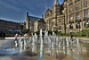 Peace Gardens Fountains (Bri_J) Tags: sheffield southyorkshire uk city yorkshire building nikon d7200 peacegardens fountains townhall sky hdr winter