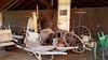 - at the old barn - (Jac Hardyy) Tags: old barn barrow wheelbarrow handcart handcarts barrows spoke wheel spoked wooden door alte scheune schubkarre schubkarren handwagen speichenrad speichenräder alt gerümpel tür