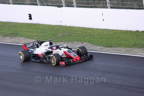 Romain Grosjean during Formula One Winter Testing 2018