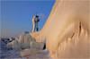 Frozen in Time (Sandra OTR) Tags: germany rügen ruegen sassnitz lighthouse leuchtturm frozen ice eis winter kälte cold sea baltic ostsee wetter weather sonne sunshine