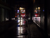 eyes in the night (Cosimo Matteini) Tags: cosimomatteini ep5 olympus pen m43 mzuiko45mmf18 london soho night street road traffic car headlights dark shop fiorucci silhouette candid eyesinthenight