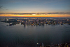 New Jersey (Photos By RM) Tags: newjersey sky view worldtradecenter sunset usa