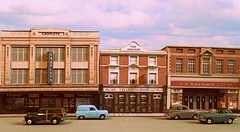 Street diorama (kingsway john) Tags: kingsway card models building pub oo 176 scale town shops woolworths cropley anchor public house ph