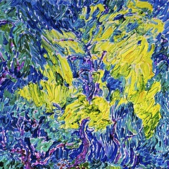 The Robinia Tree Lights up June's Garden (bill_giddings) Tags: original fineart fineartlandscape gardenlandscape fineartoilpainting oilpainting oilpaintingoncanvas tree robiniatree junesgarden impressionism impressioniststyle postimpressionism paintedbeforethemotive paintedwetpaintintowetpaint nopreliminarydrawing contemporarypainting trees colour yellow blue green space perspective shadows lightanddark creative illumination nikon