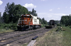 About to Gather up the Victims (ac1756) Tags: soo sooline emd sd402 765 extrawest gilchrist michigan