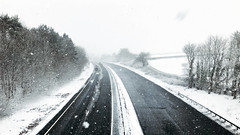 Empty Highway (Peaf79) Tags: snow tiverton devon empty snowflakes england quiet snowday iphone