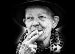 Demain, j'arrête.../ I will stop tomorrow... (vedebe) Tags: portraits portrait noiretblanc netb nb bw monochrome fumée rue street ville city urbain urban urbanarte