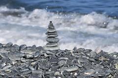 Stone balancing (Gianni Armano) Tags: stone balancing mare arenzano genova liguria italia foto gianni armano photo flickr
