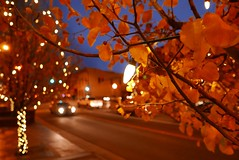 Main street of Golden, CO. (Thanathip Moolvong) Tags: leica dlux pointshoot evening light bokeh creative usa golden colorado city town car dusk