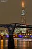 The Shard and The Millennium footbridge (Nigel Blake, 16 MILLION views! Many thanks!) Tags: london theshard nightshoot millennium bridge
