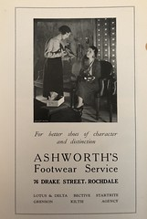 Ashworth's Footwear Service, Rochdale, c1930 (mikeyashworth) Tags: rochdale ashworthsshoeshop 76drakestreet advert c1930 mikeashworthcollection