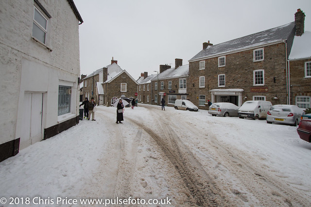 Bampton in the Snow
