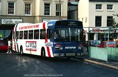 Midland Red North 515 840823 Shrewsbury [jg] (maljoe) Tags: midlandrednorth nationalbuscompany nbc leylandnational advertbus overalladvert