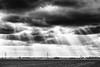 Solar energy (++sepp++) Tags: graben bayern deutschland de bavaria germany landschaft landscape landschaftsfotografie wolken clouds sonnenstrahl sunrays bw blackwhite monochrom sw schwarzweis einfarbig