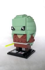 Kit Fisto (instructions coming soon) (tomvanhaelen) Tags: lego star wars custom brickheadz moc kit fisto jedi