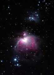 Orion and Running Man Nebulae with a Canon SX60 (bencbright) Tags: orion orionnebula m42 ngc1973 ngc1975 ngc1977 canonsx60 sx60 astrophoto nebula m43 runningmannebula