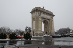 Triumphal arch, Bucharest, Romania (Cost3l) Tags: bucuresti snow winter bucharest romania