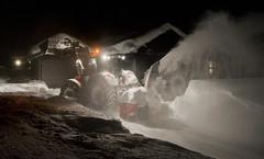 Snow plowing (Anders_3) Tags: sirdal vestagder norge norway furuåsen winter snow tractor cabin 7s58990 weather brøyting snowplowing cold nikon vehicle 1600iso
