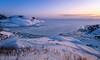 Frozen Sea #03 (tinamar789) Tags: winter sea seashore seascape snow ice frozen cold sunset sky colorful suomenlinna horizon helsinki finland