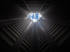 A diamond in the sky (marco ferrarin) Tags: diamond sky apartment ikebukuro tokyo japan toshimaward ikebukuroairrisetower tower lookingup directlybelow clouds perspective 池袋 東京 池袋エアライズタワー skyscraper building abstract abstractreality bluesky city abstractarchitecture downtown asia livingenvironment citylife lifestyle