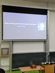 Alan Turing and the Enigma Machine (beqi) Tags: 2018 alanturing cryptography edinburgh enigma jamesgrime mathematics mobilephone