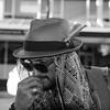 """ Nice hat "" Street Portrait n°3 (tinmarmade) Tags: hat street rue nelson nouvellezélande newzealand men man homme noir blanc black white nikonnz"