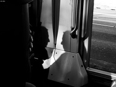 Sometimes A Man Is Just Gonna Have To Face Himself (Eddy Allart) Tags: sombras shadows schaduwen tram man hombre