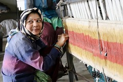 The Khadi Weaver (Byghan) Tags: khadi weaving gondal khadiplaza gujarat