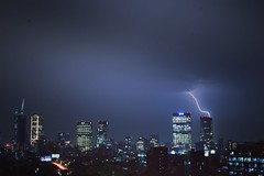 Justo (sbsrodman) Tags: méxico d5300 35mm nikon purple black blue azul buildings edificios storm tormenta truenos rayos lightningbolt light night noche city ciudad cdmx