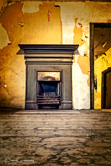 Abandonned Spaces - Attic Room With An Old Fashioned Fireplace (Peter Greenway) Tags: floorboards fire vintage fireplace doorway nt flickr peeling woodenfloors deserted york nationaltrustproperty paint abandonned treasurershouse nationaltrust