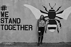 (plot19) Tags: street art bee manchester north northern northwest england english uk britain blackwhite plot19 photography portrait love liv olivia family fashion fasion daughter teenager girl woman nikon