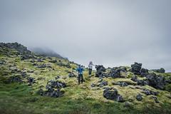 Hiking In Iceland (ryanrichardsonmichael) Tags: hiking trekking outdoor advertising gear team backpacking backpacks outside moss lava field basalt iceland snaefellsjoekull national park