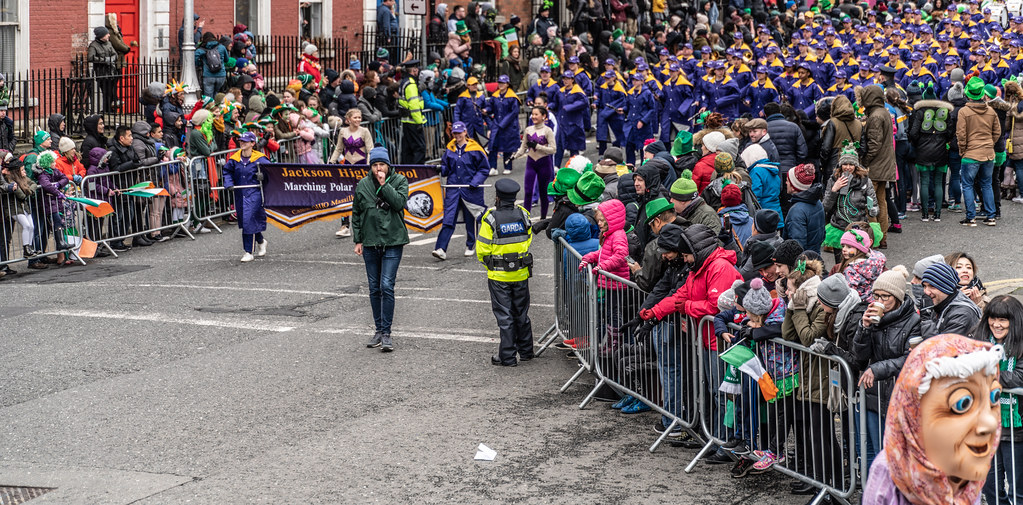 Jackson High School - Purple Army Marching Band [Dublin Patricks Day Parade 2018]-137620