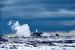 Grindavík, Iceland (Monica@Boston) Tags: grindavík geothermalresources clouds sky geothermal lighthouse white landscape snow na iceland