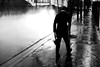 To the good side (pascalcolin1) Tags: paris13 homme man nuit night pluie rain eau water lumière light phares lighthouses reflets reflection photoderue streetview urbanarte noiretblanc blackandwhite photopascalcolin 50mm canon50mm canon