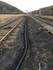 Cable duct from ground frame to 12 signal 19Mar18