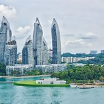 Keppel Bay seen from Fort Siloso Skywalk on Sentosa island, Singapore thumbnail