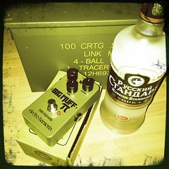 Vodka and Russian Big Muff (jivethunders) Tags: bigmuff fuzz vodka ehx greenrussianbigmuff