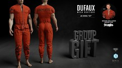 DUFAUX | FREE GROUP GIFT @ mainstore (luca.dufaux) Tags: dufaux aesthetic belleza signature stray dog gac akina luca zara suto varonis choker jail coverall jailsuit free gift