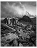 Castell y Gwynt (danjh75) Tags: blackwhite mono glyders snowdonia summit camping hiking nikon rocks wales