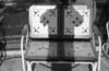 KILLIN-IT (kaumpphoto) Tags: seat mamiya nc1000s 3200 ilford bw monochrome shadow selfportrait bench metal cutout dream living killing window stool emboss arm