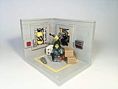 //Tales from the Core/: Loading Dock 4d61796f6e6e61697365 (slight.of.brick) Tags: lego minifig vignette moc tales from core smuggler