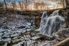 Brandywine Falls Sunrise (tquist24) Tags: brandywinecreek brandywinefalls cuyahogavalleynationalpark hdr nikon nikond5300 ohio clouds geotagged ice icicle icicles longexposure morning park river rocks sky snow sunrise tree trees water winter northfield unitedstates