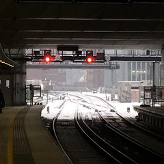 Train arrival during snowstorm Emma (Deydodoe) Tags: thameslink blackfriarsstation britain snowy ice icy cold freezing frozen freeze wintry badweather iphone railroad rail track platform station blackfriars commute commuting train railway beastfromtheeast stormemma weather winter snowstorm storm 2018 london england greatbritain unitedkingdom snow