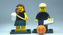 Brick Yourself Custom Lego Figures Coffee Girl & Game Boy