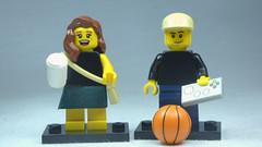 Brick Yourself Custom Lego Figures Coffee Girl & Game Boy