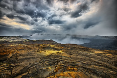 Smoke & Clouds (Fotografie mit Seele) Tags: ertaale ethiopia äthiopien lava volcano vulkan sulphur smoke steam dampf rauch
