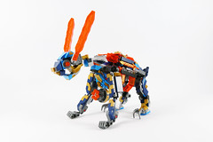 """Clay's Mechabunny - LEGO Nexo Knights 72004  Alternate MOC (""""grohl"""") Tags: mech bunny rabbit clay monstrox cyberbyter merlok 20 72004 lego nexo nexoknights 2018 grohl666 grohld shooting function suit futuristic crazy scifi rodent animal cute posable action figure battle tech wizard showdown alternate"""