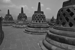 INDONESIEN,Janeedhistische Tempelanlage, Borobodur, perforierte Stupas,  17246/9759